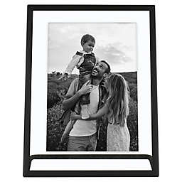 Bee & Willow™ Home 7-Inch x 9-Inch Metal Float Frame with Stand in Black