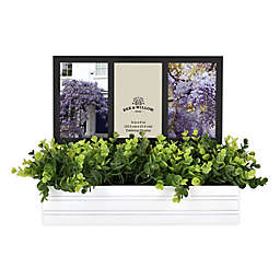 Bee & Willow™ Home 3 Photo Picture Frame with Planter in White/Black