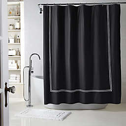 Wamsutta Shower Curtain in Black/white