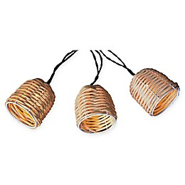 Natural Thread 10-Piece Solar String Lantern Lights in Beige