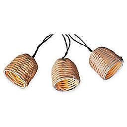 Natural Thread 10-Piece Solar String Lantern Lights in Beige
