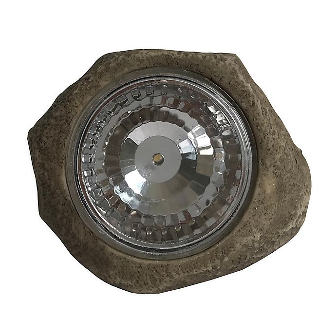 Alternate image 1 for Illuminating Solar Mini Rock in Grey