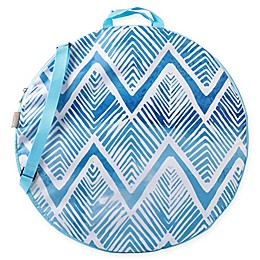 ONIVA™ Watercolor Chevron Pop-Up Blanket in Blue/White