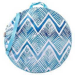 ONIVA™ Watercolor Chevron Pop-Up Blanket in Blue/White