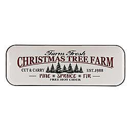 Farmhouse Enameled Iron Christmas Tree Wall Sign