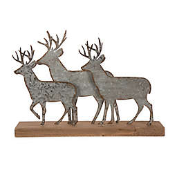 Glitzhome Galvanized Metal Reindeer Table Décor