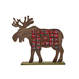 Glitzhome Countdown Wooden Reindeer Table Decor