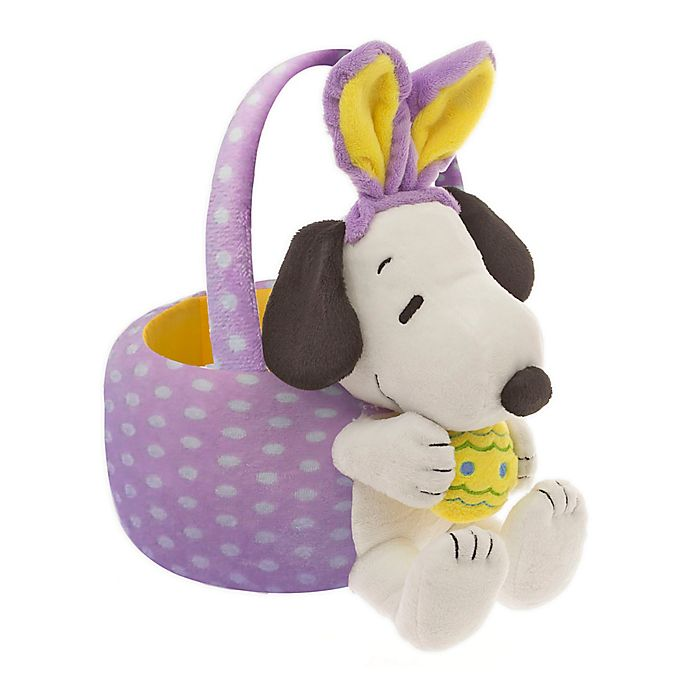 Alternate image 1 for Peanuts™ 10-Inch Snoopy Easter Basket in Purple/Yellow