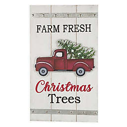 Merry Christmas Truck Wood and Metal Wall Décor