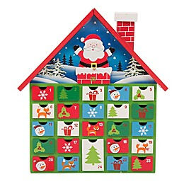 Glitzhome 14-Inch Wooden Santa Farmhouse Countdown Advent Calendar with Drawers