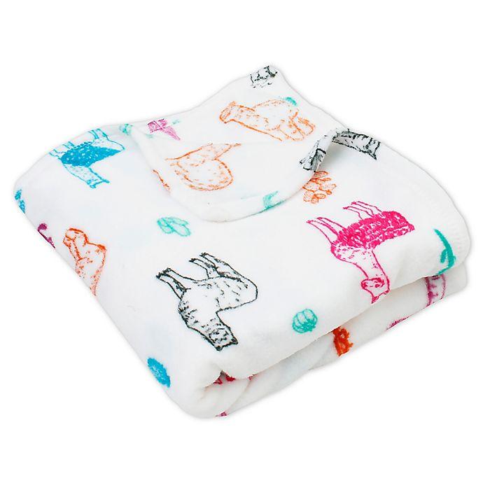 Plush Blanket Hello Spud Llamas