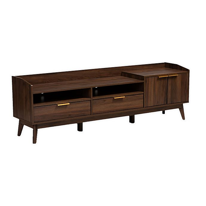 Alternate image 1 for Baxton Studio Carson 2-Drawer Wood TV Stand in Walnut Brown