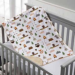 Woodland Adventure Personalized Sherpa Baby Blanket