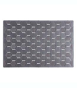 Tapete para fregadero de plástico iDesign™ Hex grande color grafito