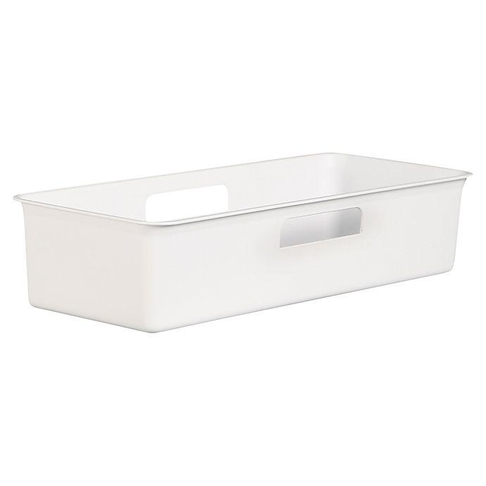 SALT™ Narrow Bath Bin in White