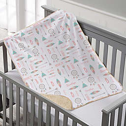 Boho Baby Personalized Sherpa Baby Blanket