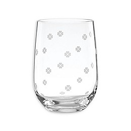 kate spade new york Clover™ Stemless Wine Glasses (Set of 4)