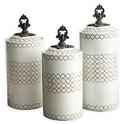 American Atelier 3-Piece Canister Set in White