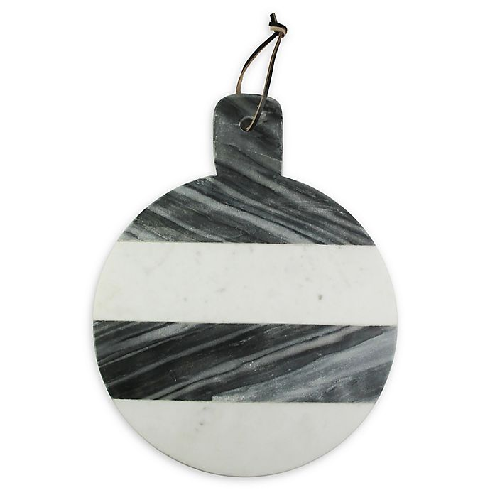 Alternate image 1 for American Atelier 15-Inch White and Grey Marble Cheese Board