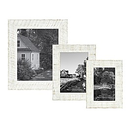 Bee & Willow™ Home Textured Wood Picture Frame in White