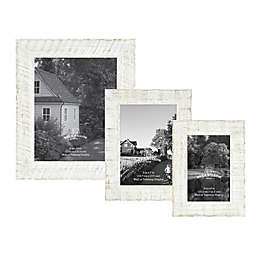 Rustic Impressions Textured Wood Picture Frame in White