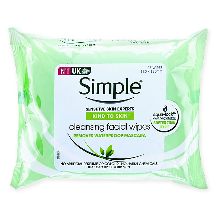 Alternate image 1 for Simple® 25-Count Kind to Skin™ Cleansing Facial Wipes