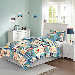 Mi Zone Kids Choo Choo Charlie Reversible Coverlet Set in Blue