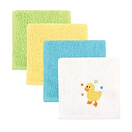 Luvable Friends 4-Pack Washcloths in Yellow