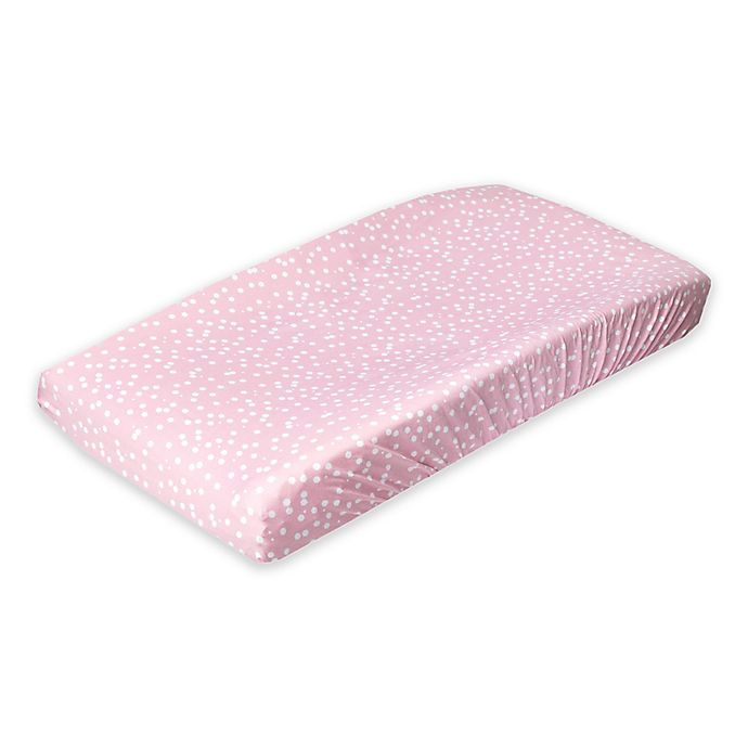 Alternate image 1 for Copper Pearl™ Lucy Fashion Changing Pad Cover in Pink