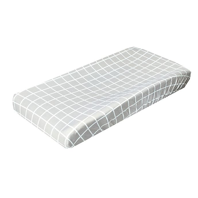 Alternate image 1 for Copper Pearl™ Midway Fashion Changing Pad Cover in Light Grey/White