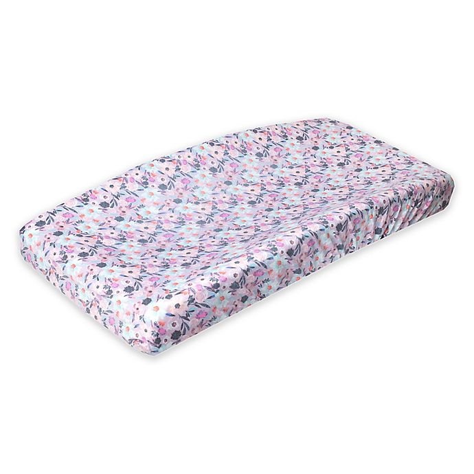 Alternate image 1 for Copper Pearl™ Morgan Changing Pad Cover in Natural Floral