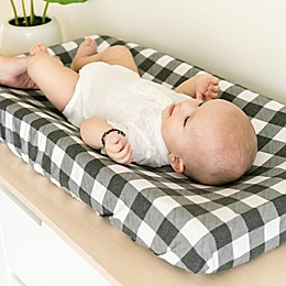 Copper Pearl Scotland Diaper Changing Pad Cover in Plaid