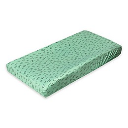Copper Pearl Fashion Alphabet Changing Pad Cover in Green