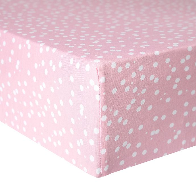 Alternate image 1 for Copper Pearl™ Lucy Premium Fitted Crib Sheet in Pink