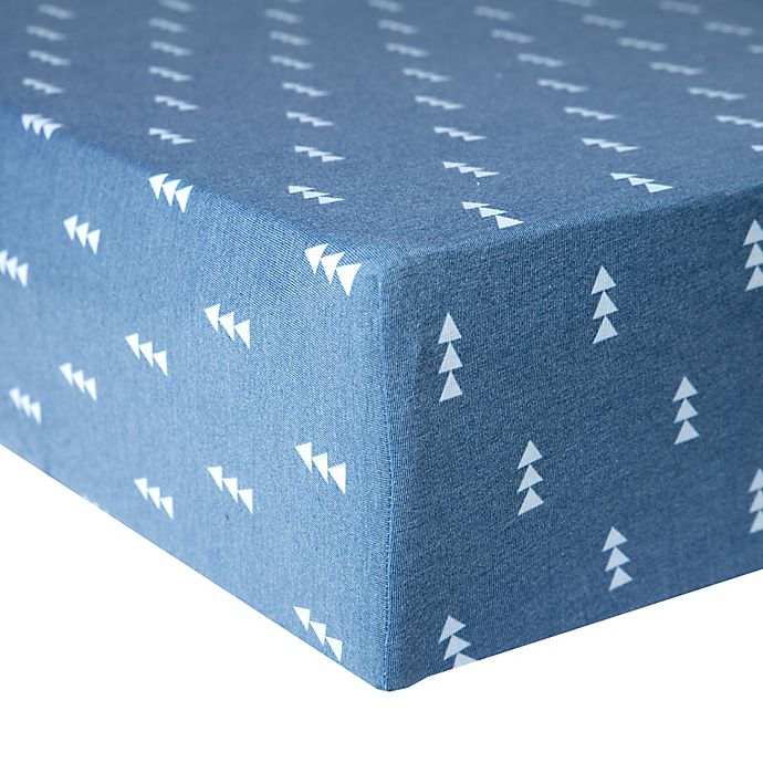 Alternate image 1 for Copper Pearl™ North Premium Fitted Crib Sheet in Blue