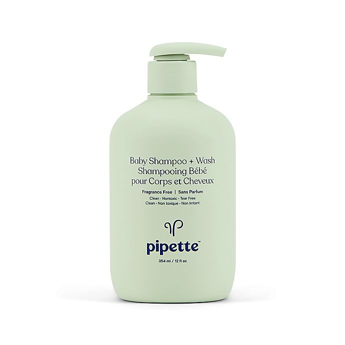 Alternate image 1 for Pipette Baby 12 fl. oz. Fragrance-Free Baby Shampoo & Wash