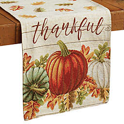 Thankful Pumpkin Tapestry Table Runner