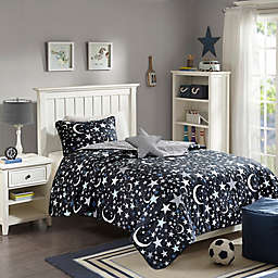 Mizone Kids Starry Night Coverlet Set in Charcoal