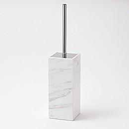 Camarillo Marble Toilet Brush Holder in White