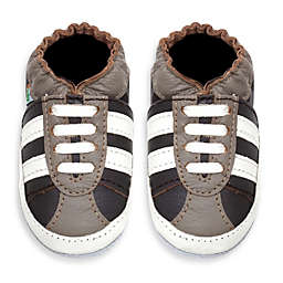 MomoBaby Soft Sole Leather Sneakers in Striped Brown