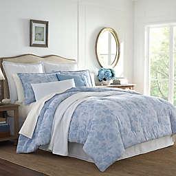 Laura Ashley® Liana Comforter Set in Blue