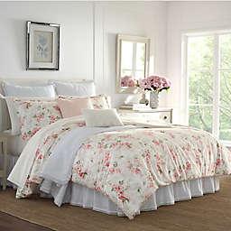 Laura Ashley® Wisteria Velour 3-Piece Comforter Set