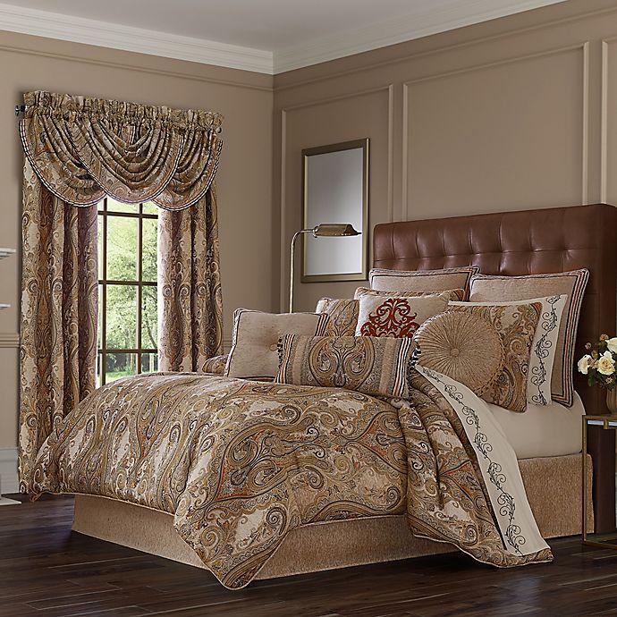 Alternate image 1 for J. Queen New York™ Luciana 4-Piece California King Comforter Set in Beige