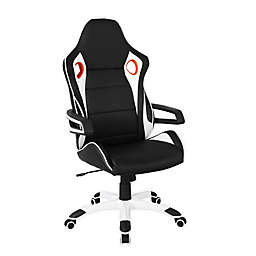 Techni Mobili Racing Style Home & Office Chair in Black