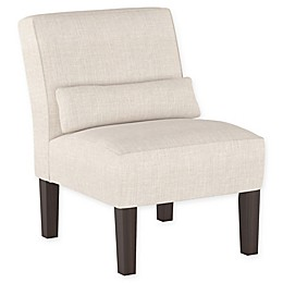 Skyline Furniture Helena Armless Dining Chair in Talc