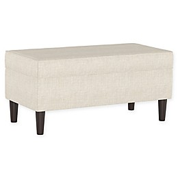 Skyline Furniture Milligan Storage Bench in Talc