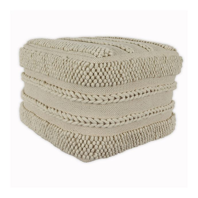 Alternate image 1 for Decor Therapy Winifred Square Pouf in Natural