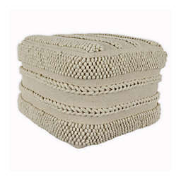 Decor Therapy Winifred Square Pouf in Natural
