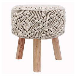 Nirobi Crocheted Stool in Natural