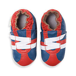 MomoBaby Soft Sole Leather Sneakers in Z-Strap Navy